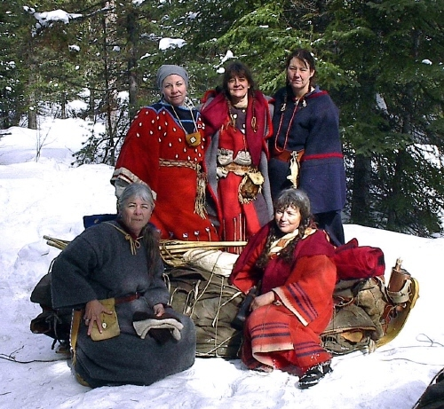 Women fur trade winter